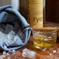 Denim Ice-Crushing Bag For The Perfect Cocktail