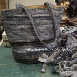 Denim Bag Made From The Seams Of Jeans