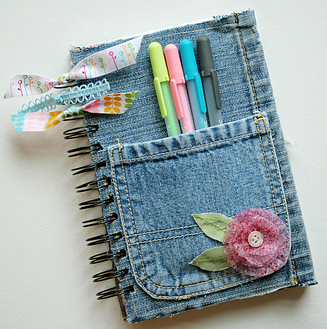 Denim Journal Made from Recycled Jeans