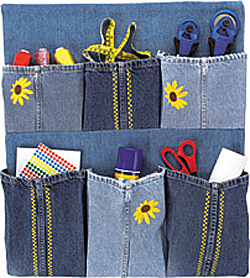 Denim Organizer Made from Repurposed Jeans