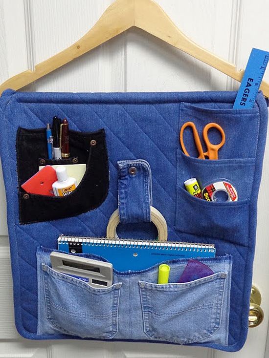 Denim Organizer for Crafts