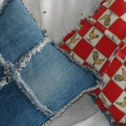Make a Denim Pillow with Frayed Trim From Recycled Jeans