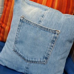 Make a Denim Pillow from Repurposed Jeans