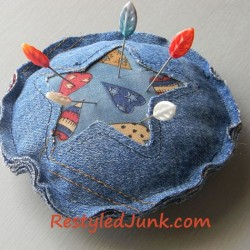 Make a Denim Pincushion from Recycled Jeans