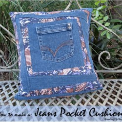 Make A Denim Pocket Pillow, Perfect For Hiding A Special Treasure
