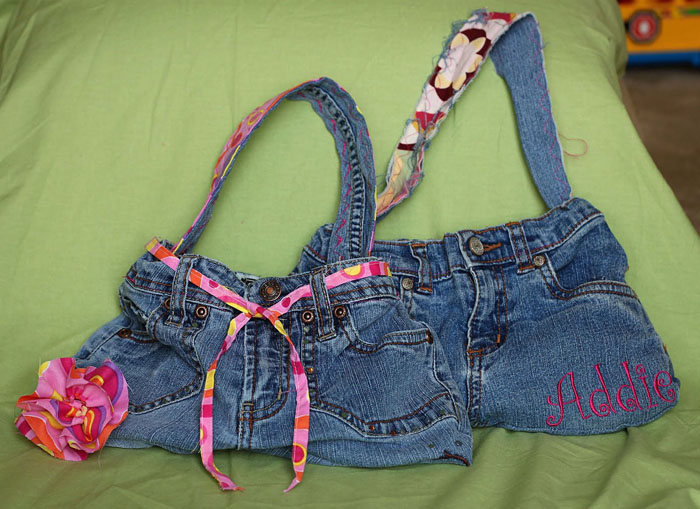 Denim Purse Made From Repurposed Jeans