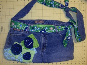 Denim Purse Made from Jeans
