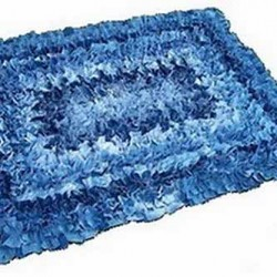 Denim Scatter Rug Made From Jeans