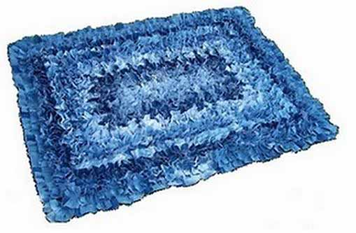 Denim Rug Made From Jeans or Recycled Jeans