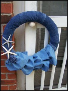 Denim Sarfish Wreath