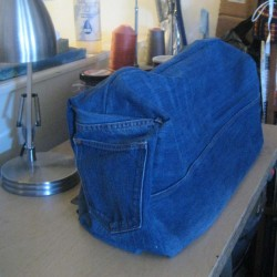 Denim Sewing Machine Cover Made From Jeans