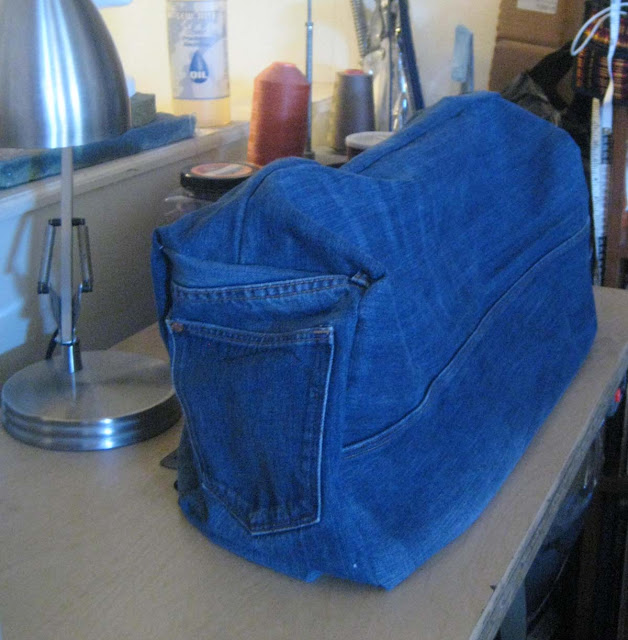 Denim Sewing Machine Cover Made From Recycled Jeans