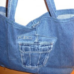 Sew a Denim Shopping Bag from Recycled Jeans