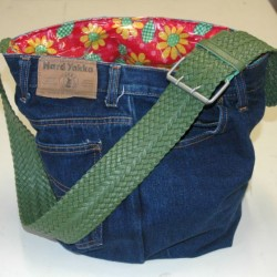 Denim Swim Bag Made From Repurpurposed Jeans