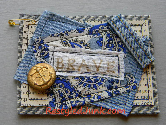 Denim Tags Made from Old Jeans and Ties