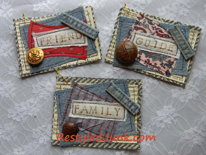 Denim Tags Made from Repurposed Jeans