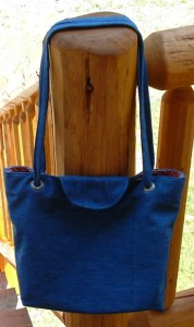 Denim Tote Bag Made From Recycled Jeans