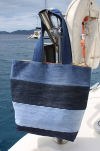 Denim Tote Made from Recycled Jeans