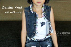 Denim Vest Made From Old Recycled Denim Dress