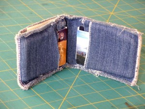 Denim Wallet Made from Jeans