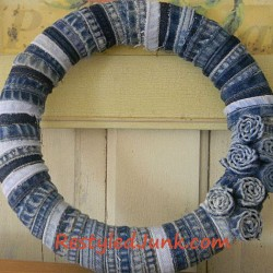 Craft a Denim Wreath with Seams from Jeans