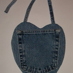 Make a Heart-Shaped Denim Baby Bib