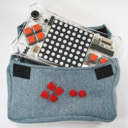 Denim Electronics Bag Made From Jeans