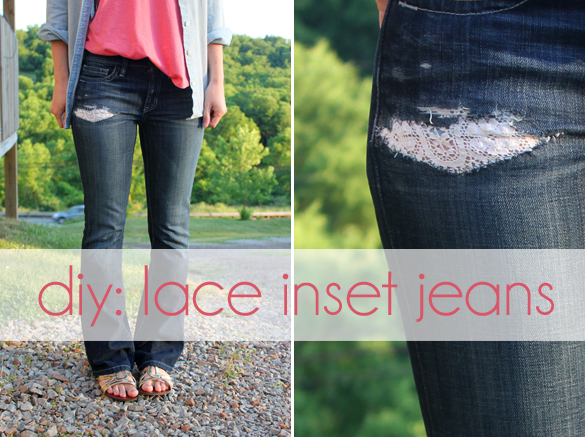 Fix a Hole in Jeans With Lace