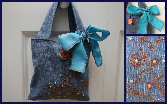 Little Denim Bag Made From Old Jeans