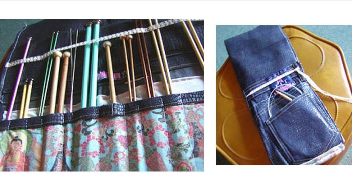 Make A Storage Case For Knitting Needles, Paint Brushes or Art Pencils