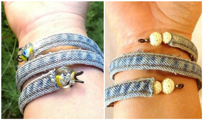 Make Denim Bracelets from Recycled Denim Jeans