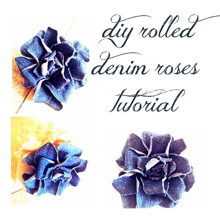 Make Denim Flowers Or Denim Roses From Old Jeans