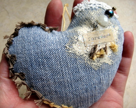 Make Denim Hearts for Valentine's Day
