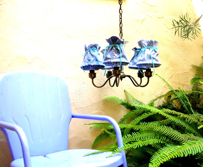 Make Denim Lampshades from Old Jeans