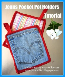 Make Denim Potholders from Recycled Jeans