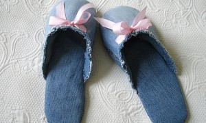 Make Denim Slippers from Old Jeans
