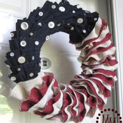 A Denim & Burlap Wreath For Patriotic Holidays