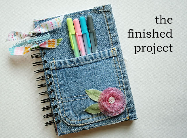 Make a Denim Cover Journal or Notebook from Repurposed Jeans
