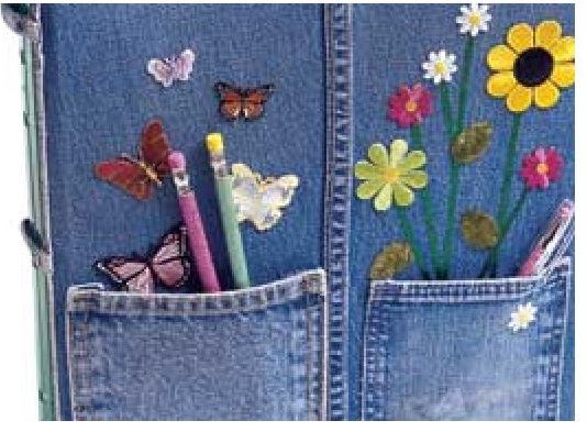 Make a Denim Notebook Cover from Jeans
