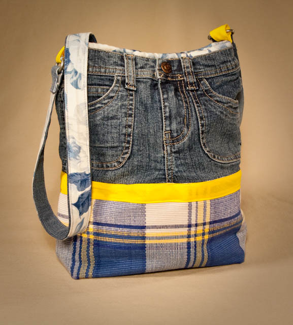 Make a Denim Plaid Purse From Recycled Jeans