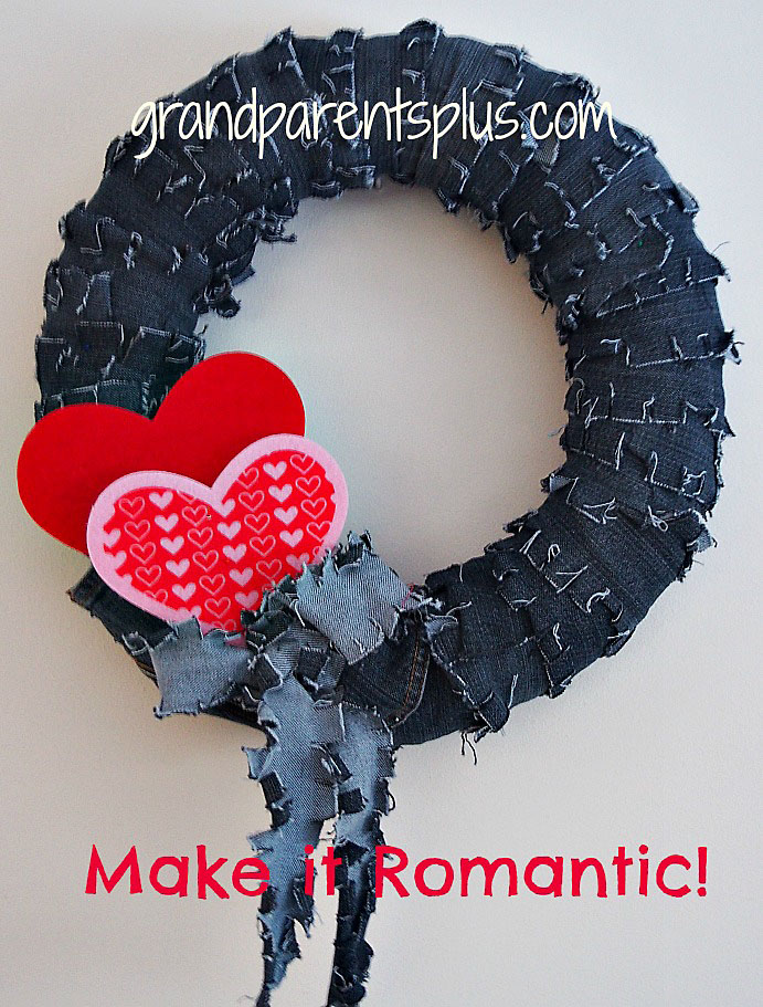 Make a Denim Wreath from Recycled Jeans
