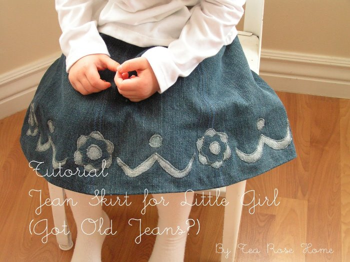 Make a Jean Skirt from Old Jeans