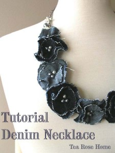 Make a Necklace Out of Scrap Denim Fabric