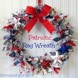 Make a Patriotic Rag Wreath for Independence Day
