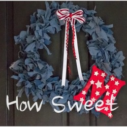 Monogrammed Denim Wreath Tutorial