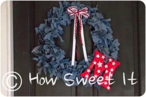 Monogrammed Denim Wreath