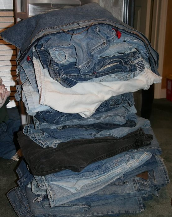 Old Jeans to be Recycled