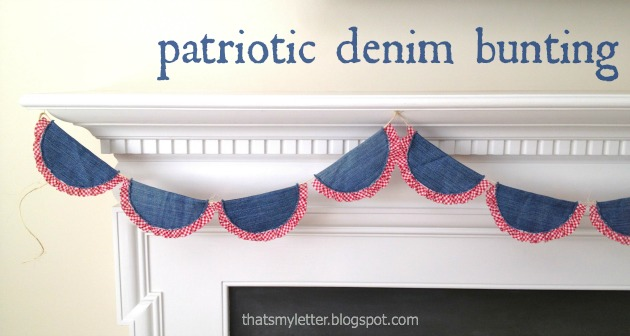 Patriotic Denim Bunting