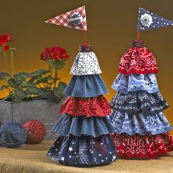 4th of July Patriotic Topiary Centerpiece