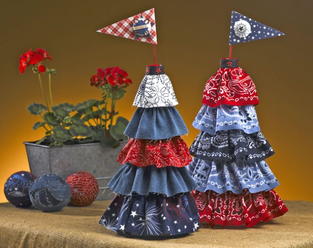 Patriotic Topiary Centerpiece